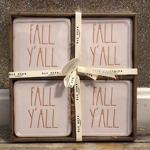 Rae Dunn FALL Y'ALL Coasters